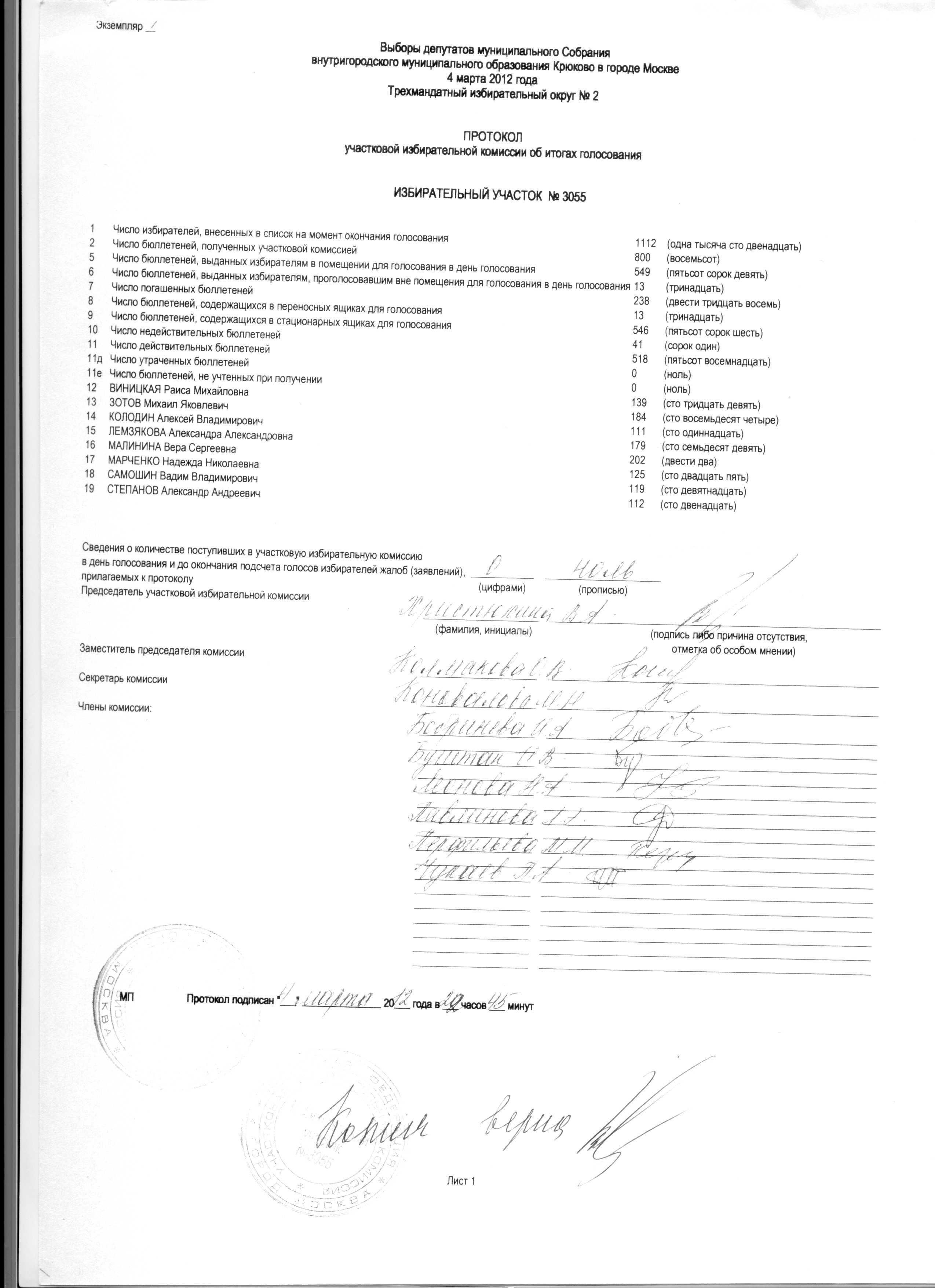 Обязан ли член участ изб комиссии дежурить на участке до выборов
