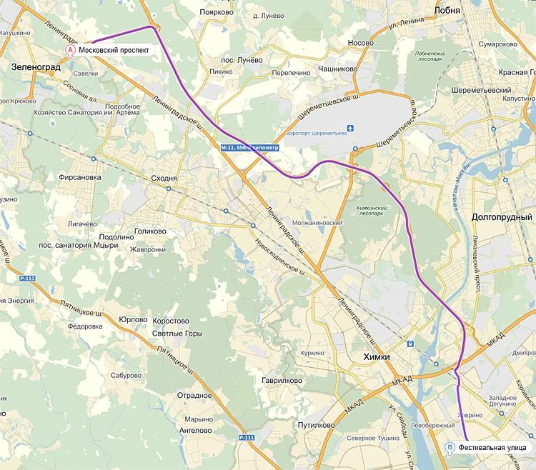 Карта «Яндекса»