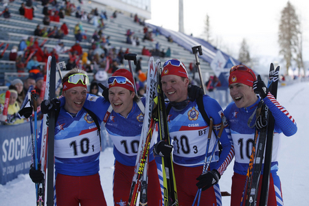 Мужская гонка патрулей завершилась уверенной победой команды из Российской Федерации